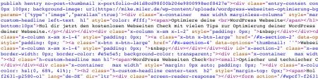 Quellcode minified: unübersichtlich aber platzsparend