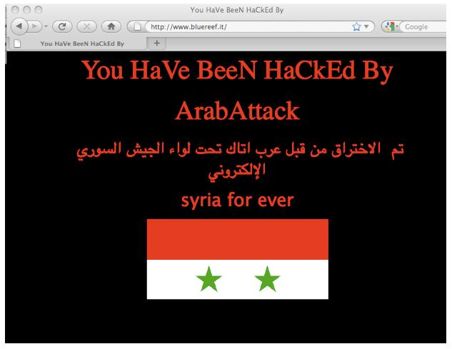 Eine gehackte WordPress Webseite kann so aussehen