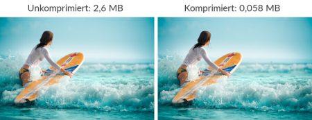 Viel raus holen mit Bildoptimierung: Siehst du einen Unterschied?